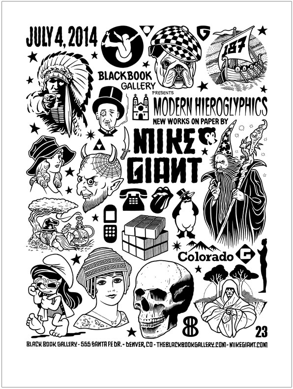 Mike Giant | Black Book Gallery 420 Tattoo Flash